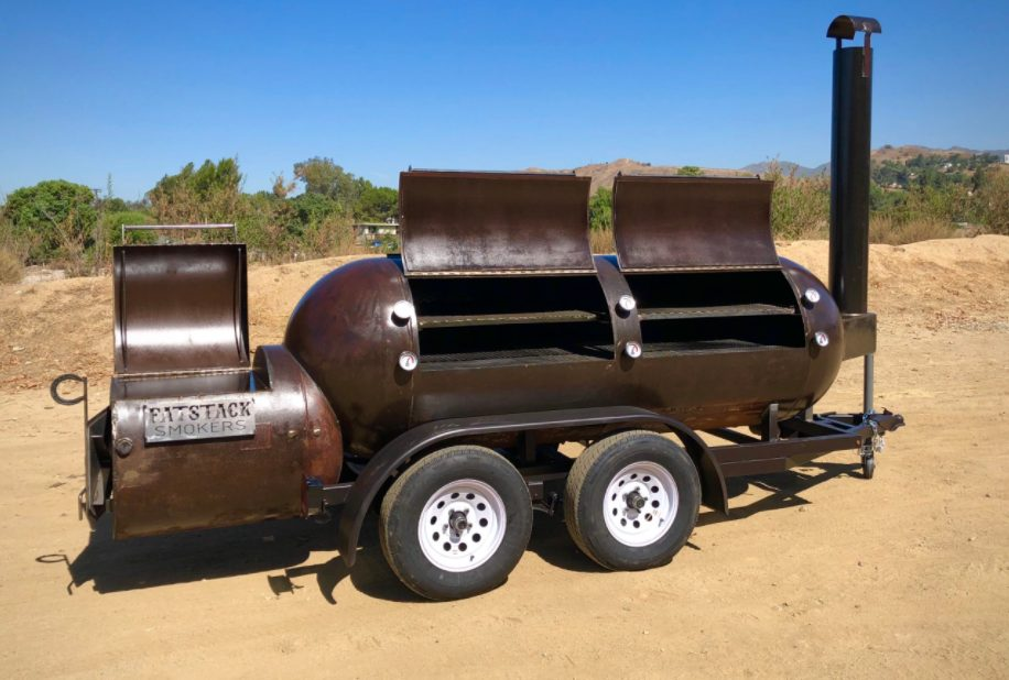 smoker with a gas tank